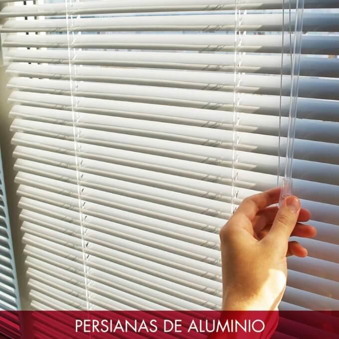 Persianas horizontales aluminio